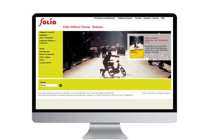 Sito internet casa editrice / Publisher's website
